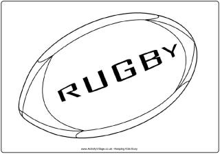 rugby ball colouring